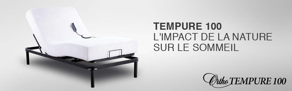 Lit ajustable tempure 100 de ortho lit lectrique for Centre de liquidation de matelas