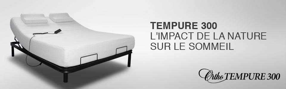 lit ajustable tempure 300 de ortho lit lectrique sommeil davantage. Black Bedroom Furniture Sets. Home Design Ideas