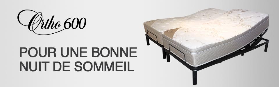 lit ajustable tempure 600 de ortho lit lectrique sommeil davantage. Black Bedroom Furniture Sets. Home Design Ideas