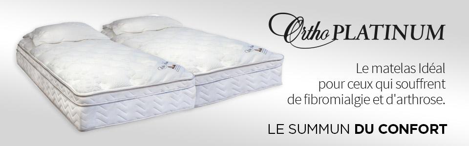 matelas orthop dique platinum de ortho sommeil davantage. Black Bedroom Furniture Sets. Home Design Ideas